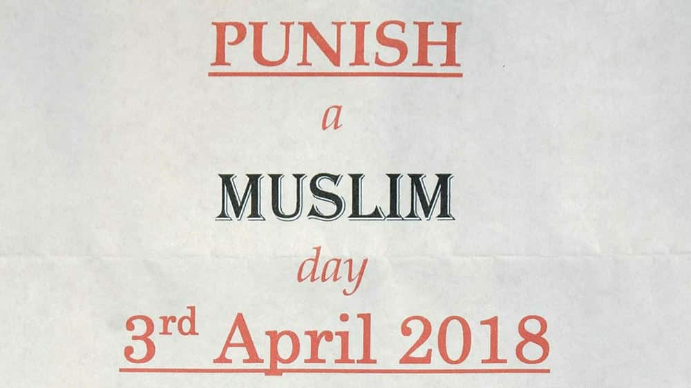 Man arrested over threatening 'Punish a Muslim Day' letters